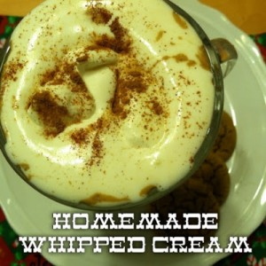 Homemade Whipped Cream {Perfect to Top Pies or Holiday Treats}