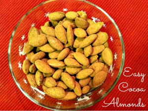 Easy Cocoa Almonds {A Healthy Sweet Treat}
