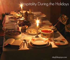 Hospitality Amidst Holiday Craziness