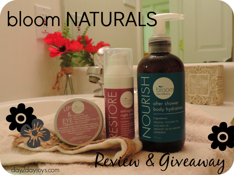 bloom NATURALS Review & Giveaway