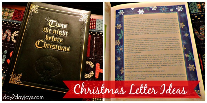 Christmas Letter Ideas 2013