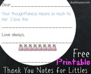 Thank You Notes from Littles