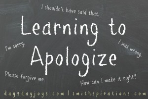 Learning to Apologize