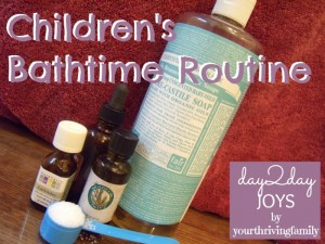 Children's Bathtime Routine