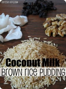 Coconut Milk Brown Rice Pudding