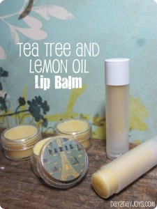Tea Tree and Lemon Oil Lip Balm