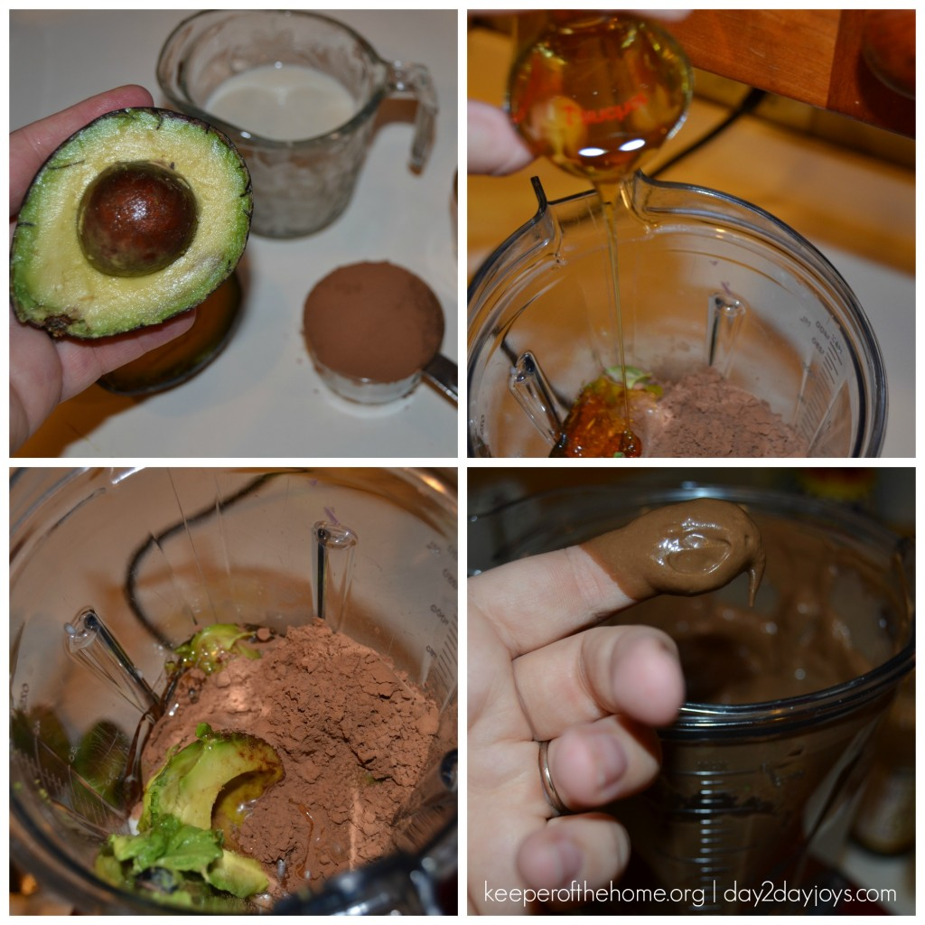 Chocolate Avocado Popsicle Collage