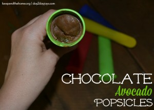 Chocolate Avocado Popsicles