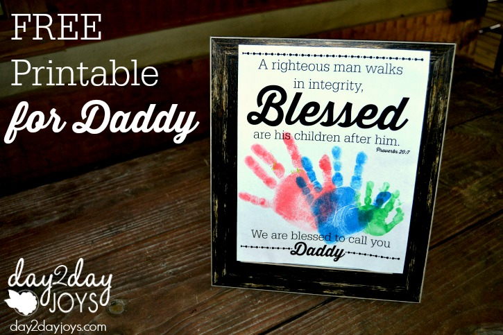 Free Printable for Daddy