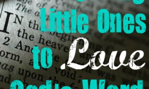 Leading Little Ones To Love God's Word