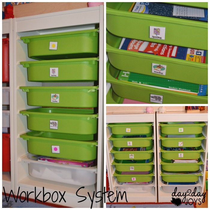 School Room Workbox  System