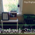Creating a Schoolwork Station #homework #afterschool  #organization