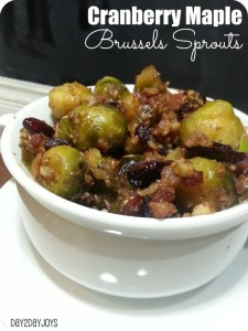 Cranberry Maple Brussel Sprouts