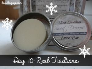 12 Days of Christmas {Day 9: Real Traditions Natural Products}