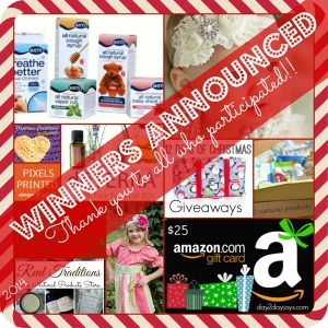 12 Days of Christmas… Winners Announced!!