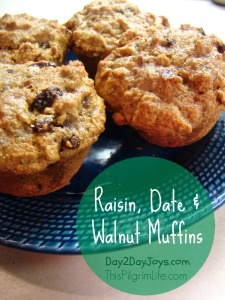 Raisin, Date, and Walnut Muffins