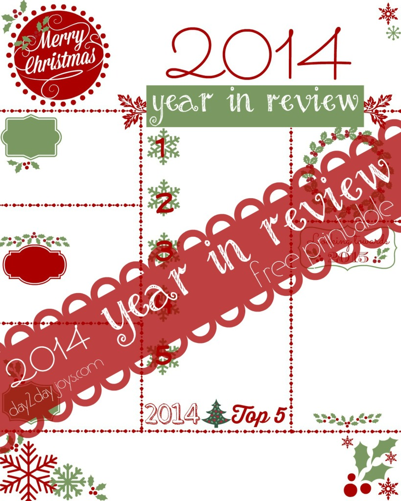Year in Review 2014 Printable