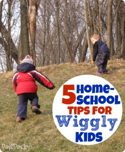 5 Homeschool Tips for Wiggly Kids