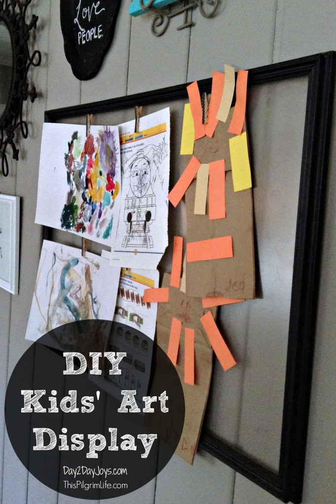 DIY Kids' Art Display