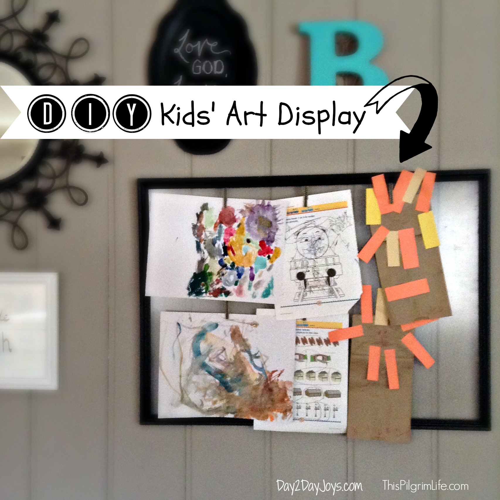 DIY Kids\' Art Display - Day2Day Joys