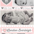 London's birth announcements