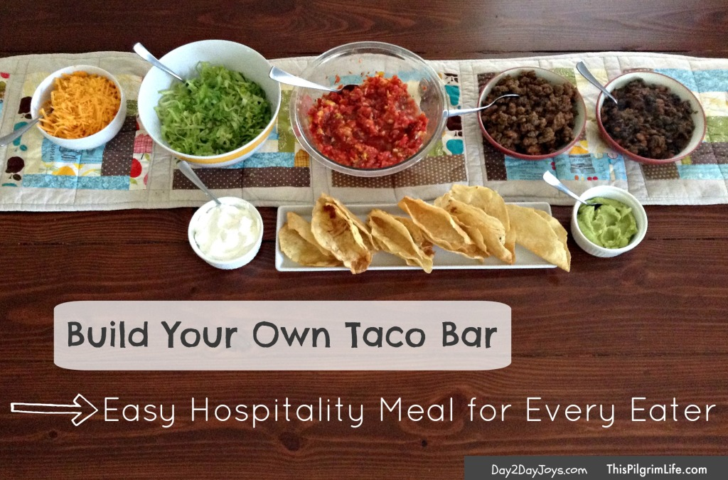 Easy Hospitality Meal for Every Eater- Build Your Own Taco Bar