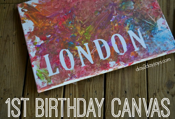 1st Birthday Canvas #Birthday