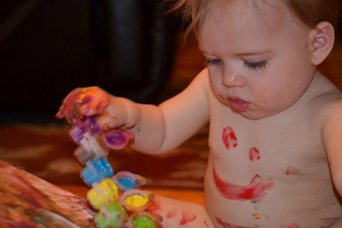 Painting with Baby #Birthday