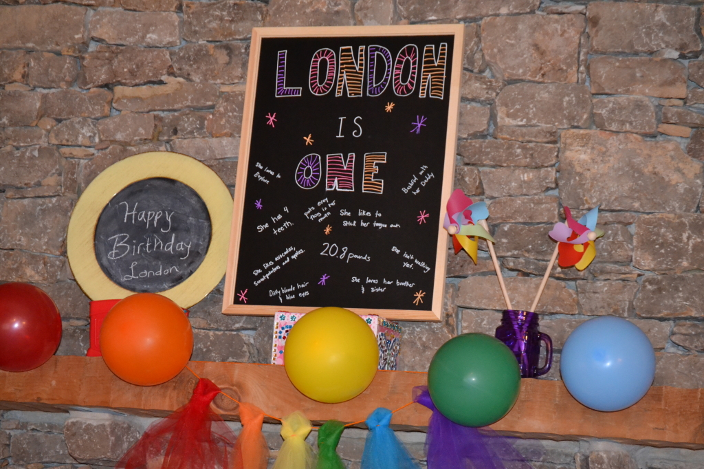 Rainbow Birthday Party: Chalkboard Display