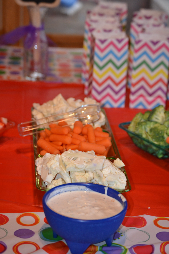Rainbow Birthday Party Food: Veggies