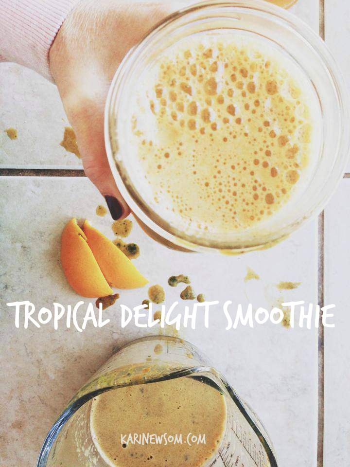 tropical delight smoothie
