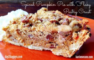 Spiced Pumpkin Pie with Flaky Pastry Crust