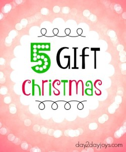 Five Gift Christmas {Plus a Free Printable}