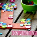 DIY Letter Artwork... EASY for kids too!