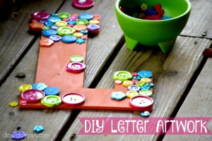DIY Letter Artwork {Easy for kids too!}