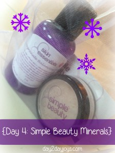 12 Days of Christmas {Day 4: Simple Beauty Minerals}