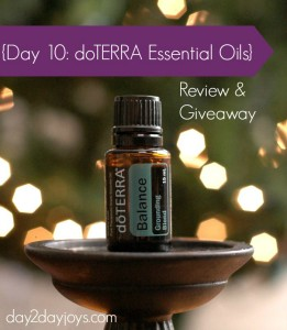 12 Days of Christmas {Day 10:  dōTERRA Essential Oil}