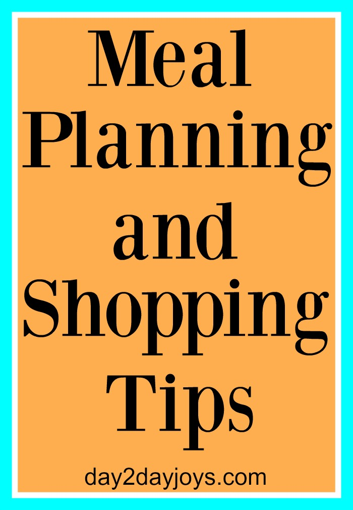 Meal Planning and Shopping Tips