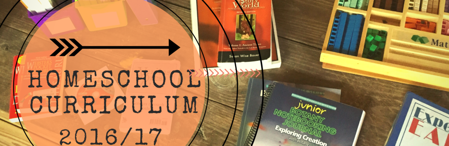 Our Homeschool Curriculum for 2016-2017