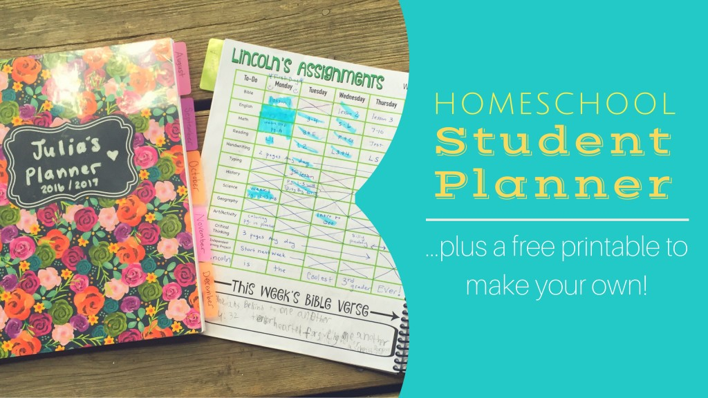 Homeschool Student Planners (PLUS a free Printable)