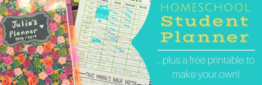 Homeschool Student Planner {plus Free Printable}