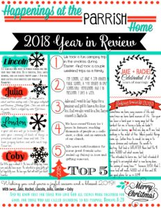 Year in Review Letter {Christmas Letter}