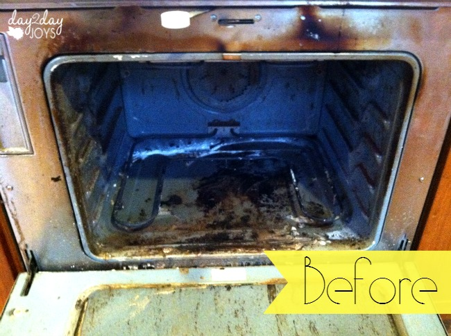 Before The Natural Oven Cleaner